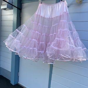 Light pink crinoline petticoat